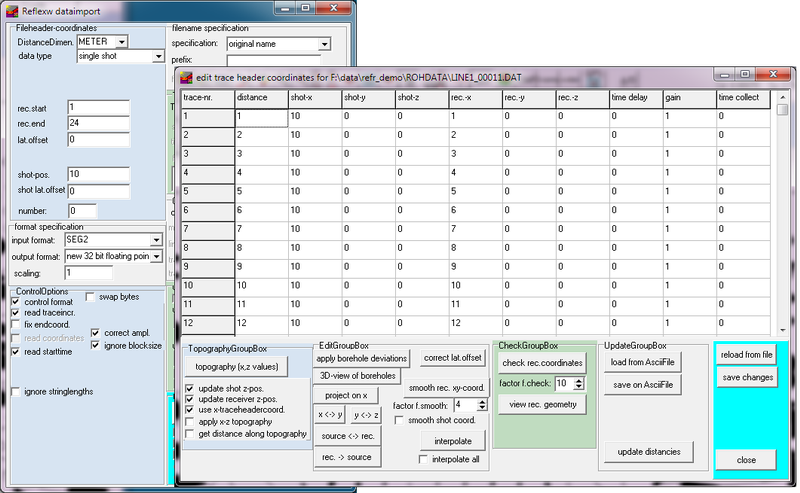 Reflexw - GPR and seismic processing software - Sandmeier